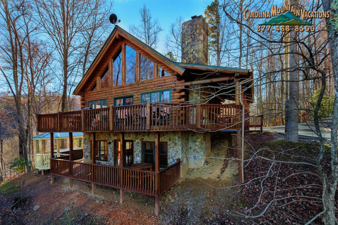 above the lake vacation rental log cabin info by carolina