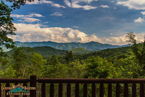 Antler Ridge lodgehas great smoky mountain view.