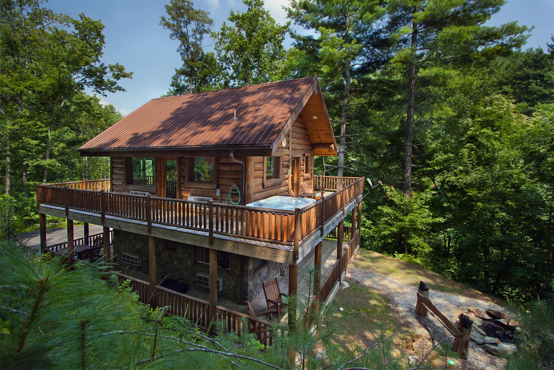 Black bear pond cabin in fontana north carolina 1 bedroom - 4 bedroom cabins in north carolina ...