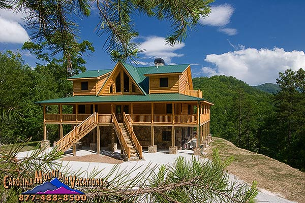 Carolina Dreamin A Large Luxury Log Cabin On Fontana Lake Nc