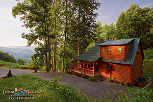 Lake View log cabin on Fontana lake