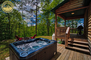 Red Bear Cabin couples escape log cabin